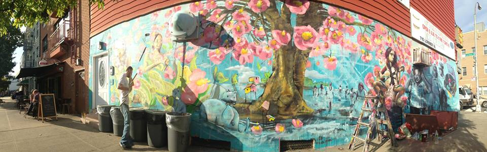Recent mural at Beco in Brooklyn